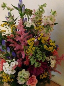 A custom floral arrangement by Helen Stock, one of Boston's leading floral designers